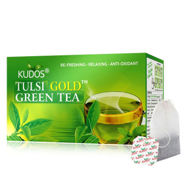 Tulsi Gold Green Tea-caja con 25 sobres