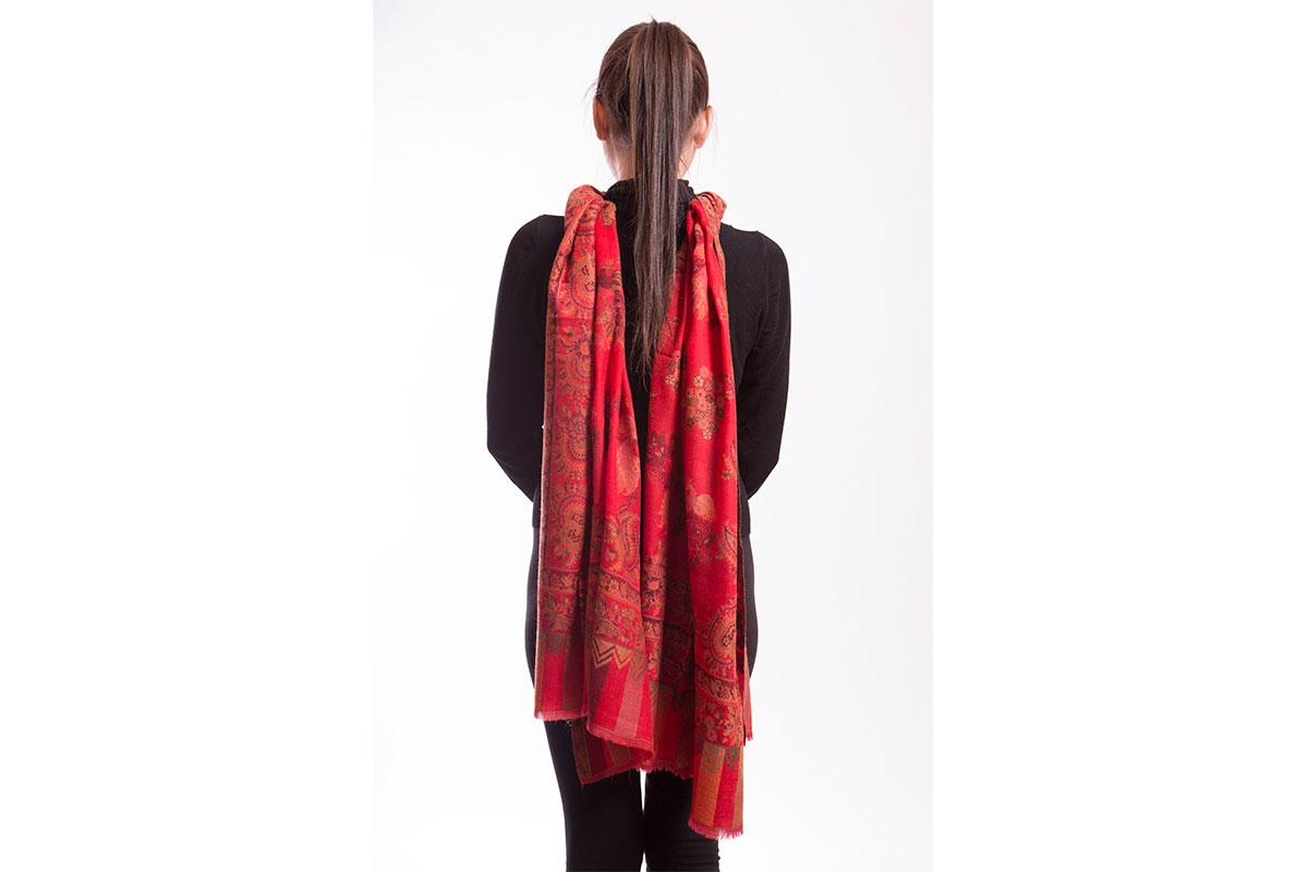 Pashminas bordadas de fino lana cashmere. Tipo PERSA, mod03